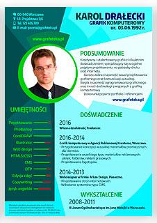 Curriculum vitae.Twórcze CV